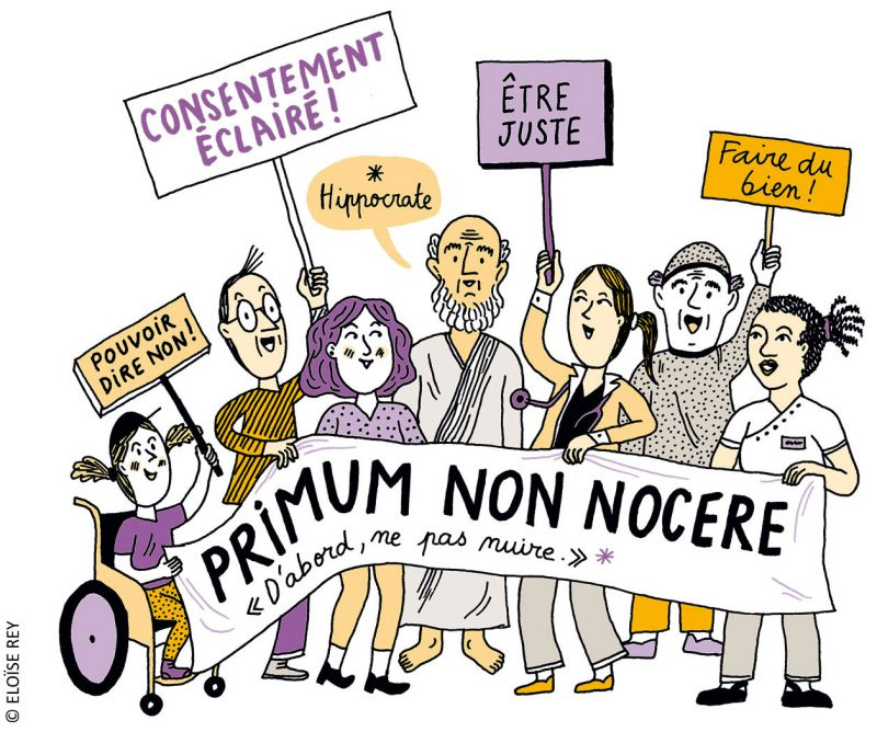 Représentation des questions éthiques et juridiques autour du parcours médical de Lulu