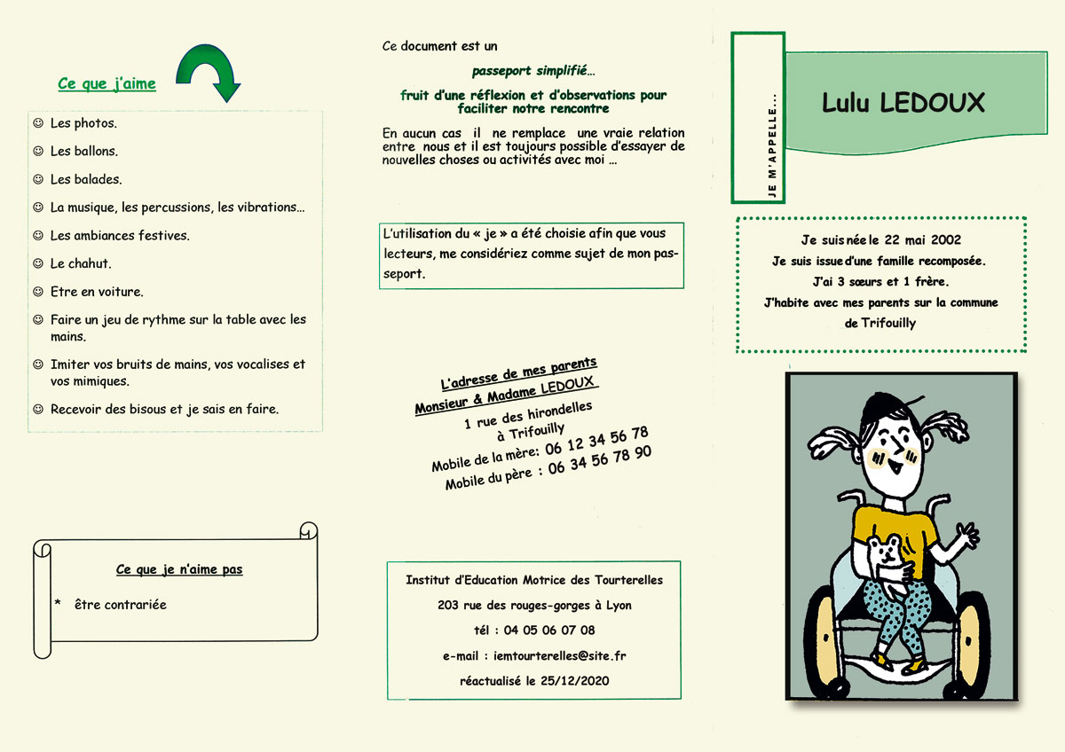 Passeport recto/verso page 1